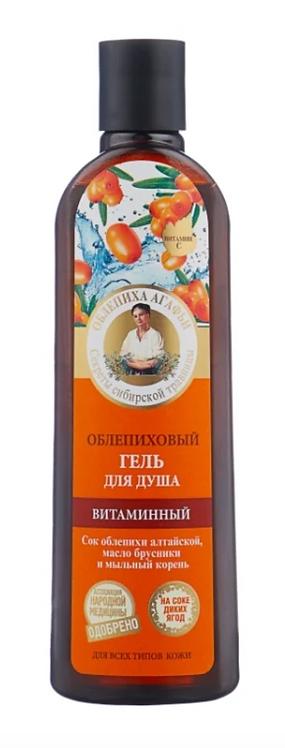 """""""Recepti babuške Agafje""""vitaminski gel za tuširanje Pasji trn, 280 ml"""