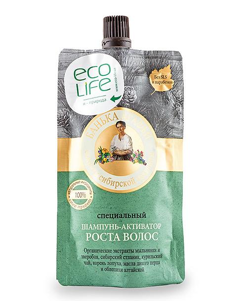 Specijalni šampon-aktivator za rast kose Sauna Agafje, 100 ml.