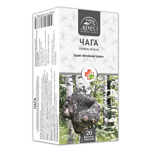 """""""Čaga gljiva"""" serije """"Altajsko bilje"""",20 filter kesica po 1,5 g."""