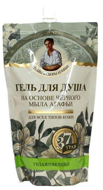 """Gel za tuširanje na bazi crnog sapuna """"37 najlekovitijih trava Agafije"""", 500 ml"""