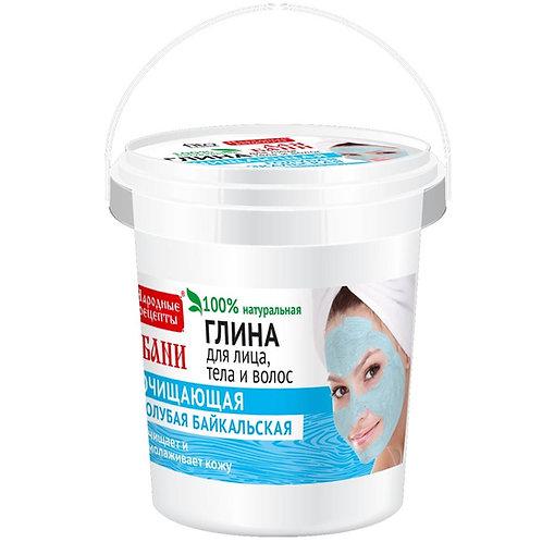 Bajkalska plava glina za negu lica, tela i kose, 155 ml