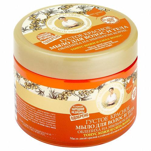 Gusti sapun za kosu i telo sa pasjim trnom na bazi korena sapunjače, 300 ml
