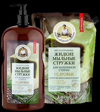 """Tečni sapun za veš Recepti bake Agafje """"Kedar"""" za mašinsko pranje, 2 litra"""