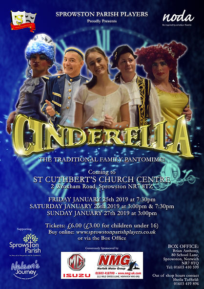 Cinderella Poster - Sprowston Parish Players