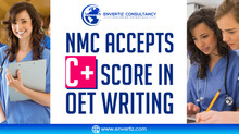 NMC accepts C+ score in OET writing