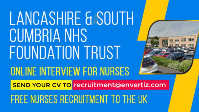 Online interview for nurses Lancashire & South Cumbria NHS Foundation Trust