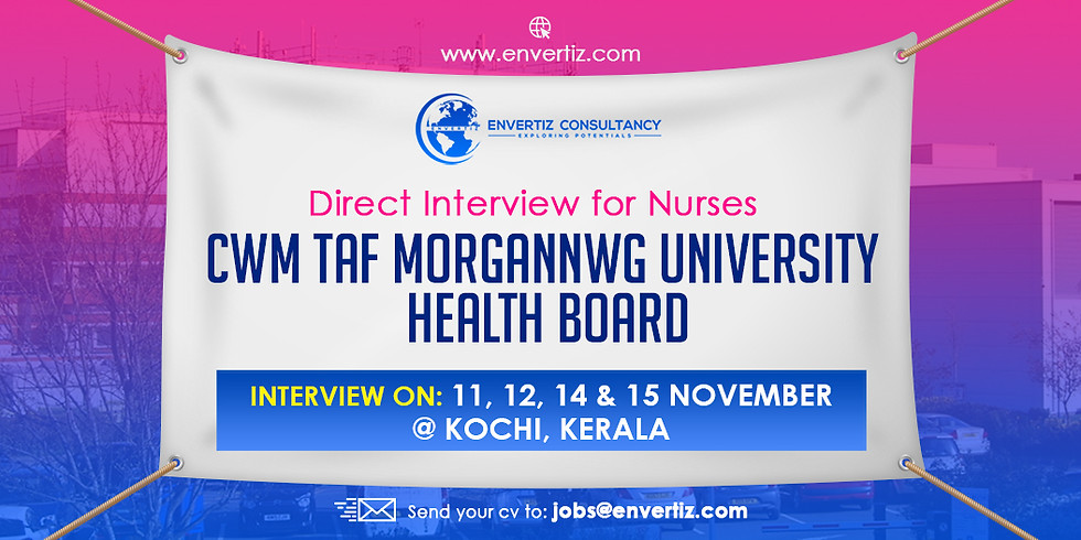Direct Interview for Nurses  Cwm Taf Morgannwg University  Health Board