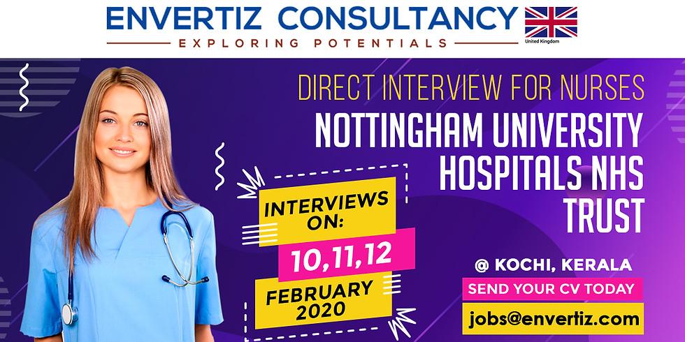 Nottingham University Hospitals Direct Interview for Nurses