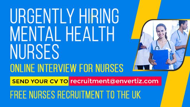 Urgently Hiring Mental Health Nurses