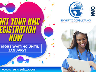 Start your NMC Registration now. No more waiting until January!