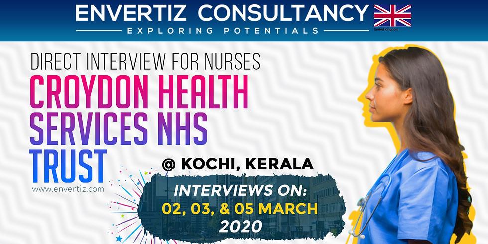 Croydon Health Services NHS Trust Direct Interview for Nurses