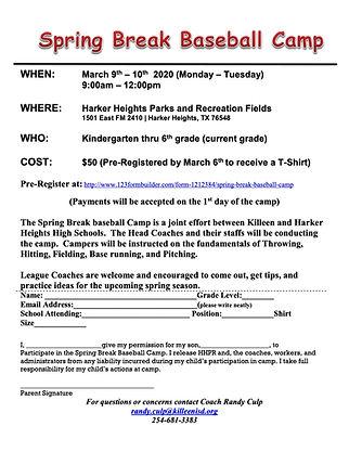 Spring Break-Baseball Camp 2020 Flyer-1