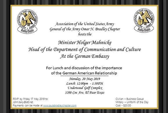 Invitation German American Luncheon May