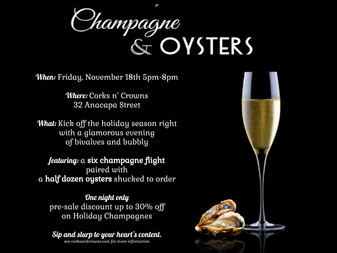 Fourth Annual Evening Champagne and Oysters