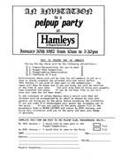 Pelpup Party at Hamleys 1982