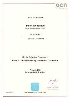 Laser Liposuction Certificat