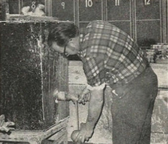 Ron pouring into a mould