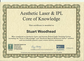 LAser Removal Certificate