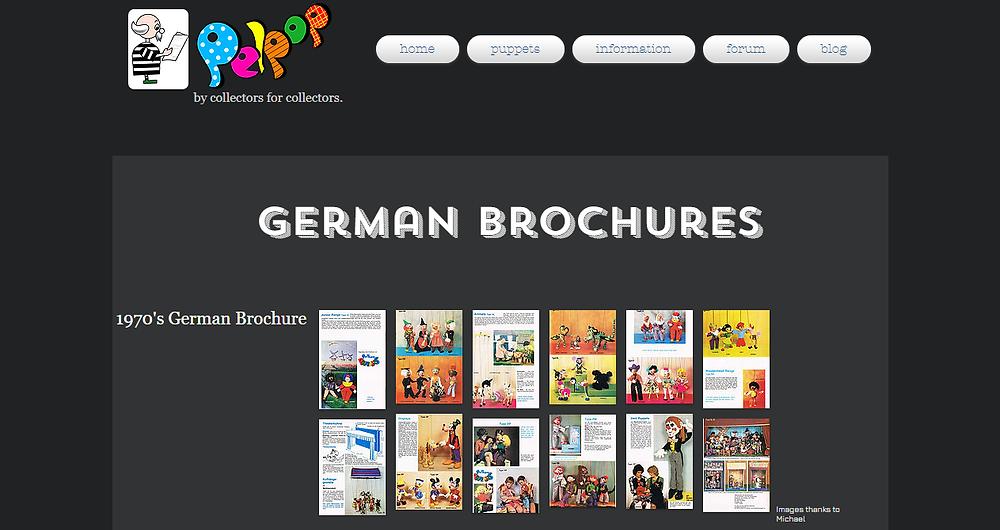 Pelham Puppets German Page