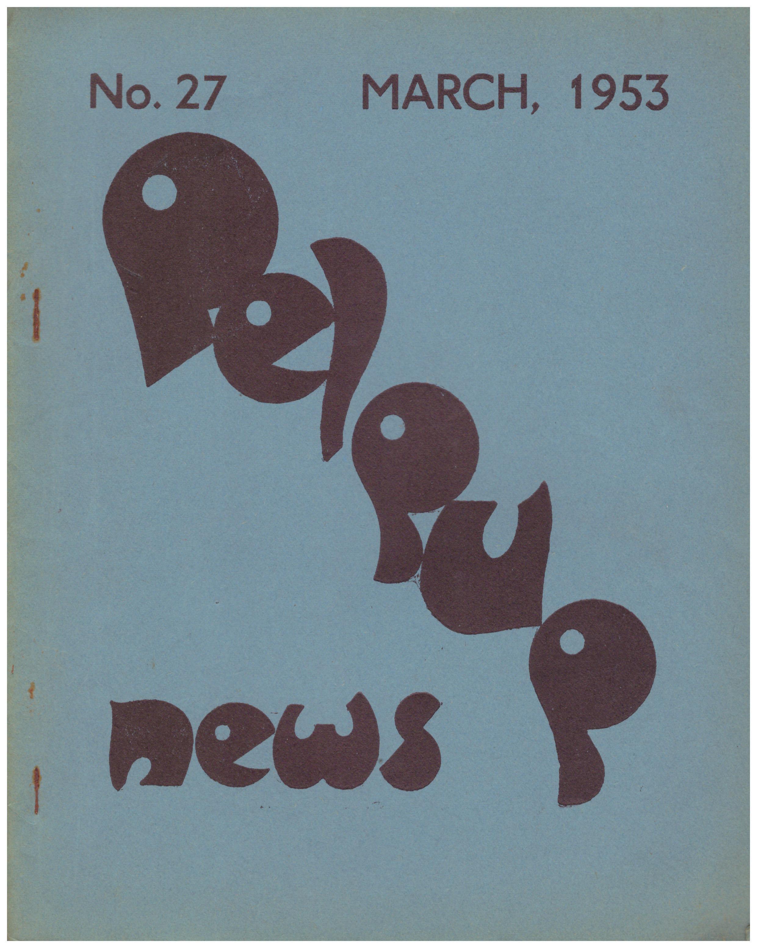 No 27 March 1953