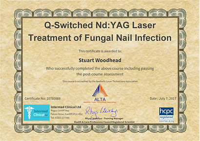 Fungal Nail Treatment Certificate