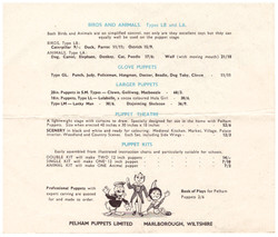 1950's Price List