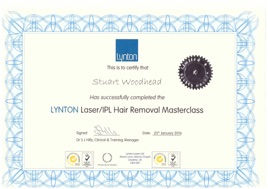 Laser HAir Removal Certificate