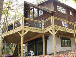 Large family Deck with a great view