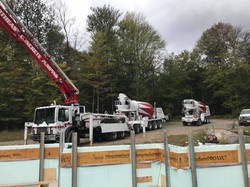 Concrete Trucks Pouring Sollenne