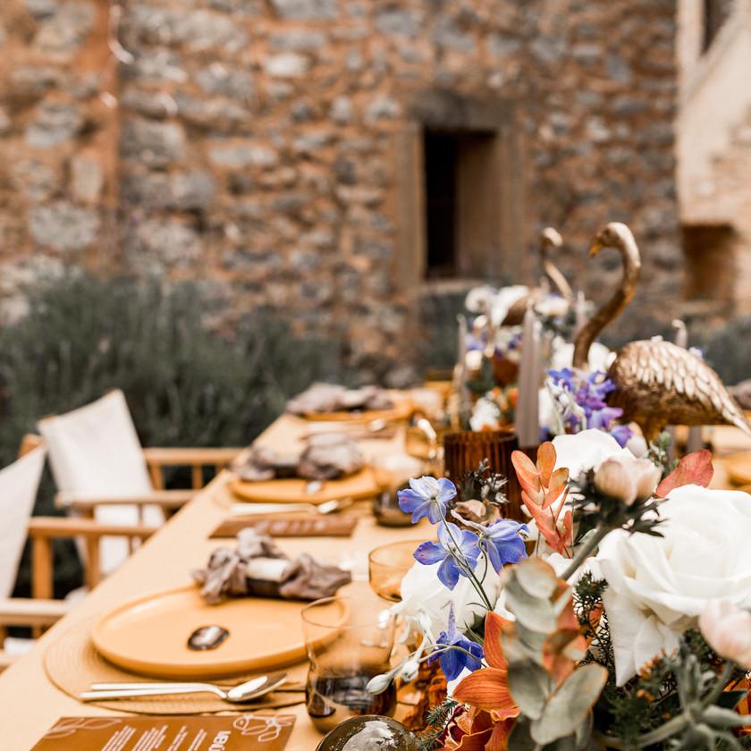 Table Setting Tischdeko Mallorca Hochzeit Boho