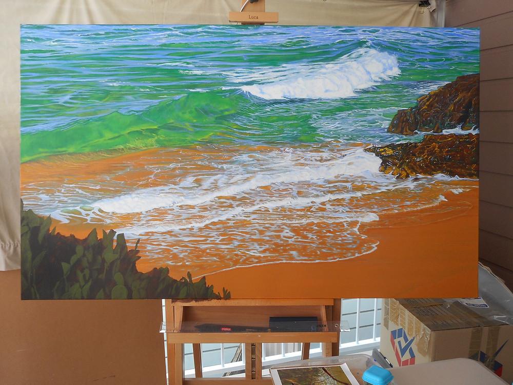 Work-in-progress by Carole Elliott