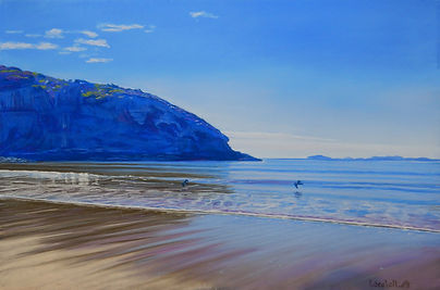 Pastel painting of Kemp Beach by Carole Elliott