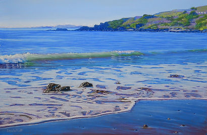 Pastel painting of Cooee Bay Qld by Carole Elliott