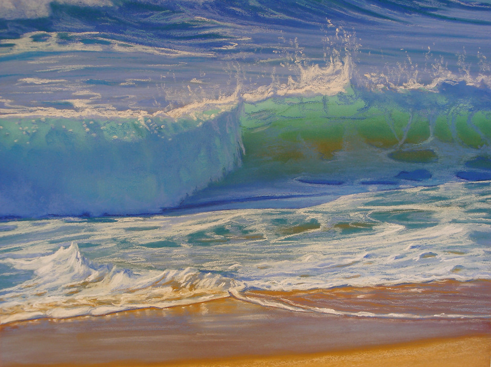 Wave detail from Wet & Wid by Carole Elliott