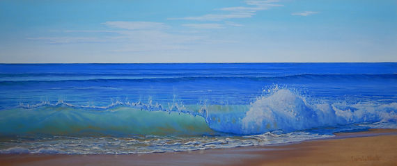 Shorebreak pastel on sanded paper by Carole Elliott