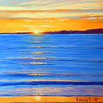 Golden Sunrise pastel painting by Carole Elliott