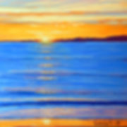 Golden Sunrise pastel painting by Carole Elliott