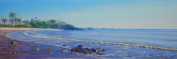 Pastel painting of Cooee Bay by Carole Elliott