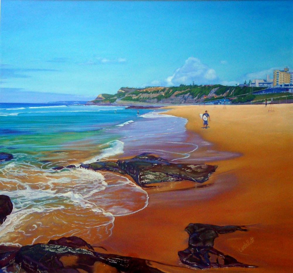 Sth Newcastle Beach by Carole Elliott