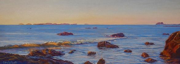Early Morning on Farnborough Beach by Carole Elliott