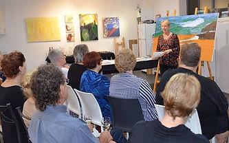 Carole Elliot's art talk at Finite Gallery