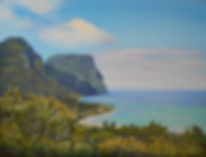 Carole Elliott Artist painting of Lord Howe Island