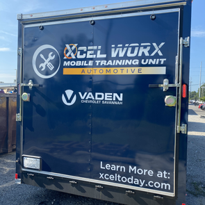 Vaden and Xcel Mentoring Truck Design and Wrap