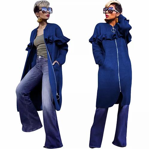 Fashion ruffle coat