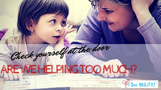 """Are we """"Helping"""" too Much?"""