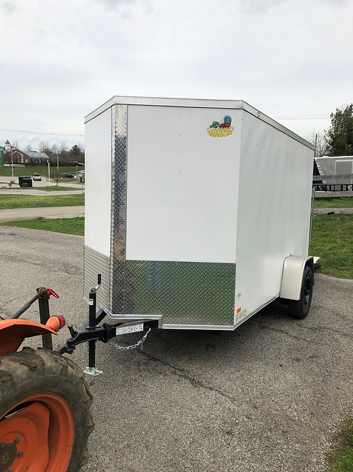 Covered Wagon 6'x10' White Enclosed Trailer