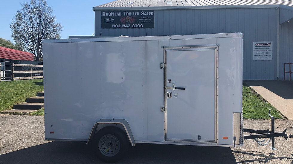 Covered Wagon 6'x12' White Enclosed Trailer
