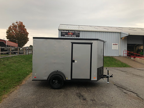 Covered Wagon 6'x10' Silver Enclosed Trailer