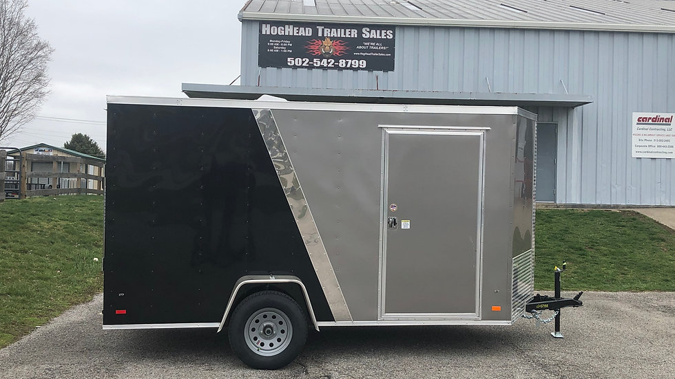 Covered Wagon 6'x12' Two-Tone Trailer
