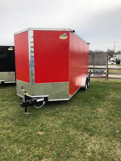 2021 Red Covered Wagon 8.5'x16' Enclosed Trailer